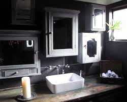 gray bathroom decor home design ideas and pictures white porcelain rectangular vessel sink over reclaimed wood top vanity also grey bathroom wall paint