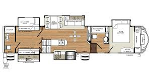 Fifth Wheel Trailers Floor Plans by 2018 Forest River Sandpiper 381rbok Model