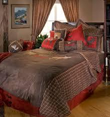 moose be plaid queen comforter set teton timberline trading