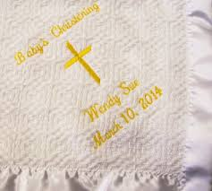 baptism blanket personalized personalized baby christening baptism blanket