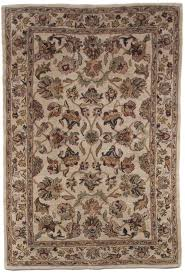 Traditional Persian Rug by Brown Beige Gold Green Traditional Persian Hand Tufted Wool Area