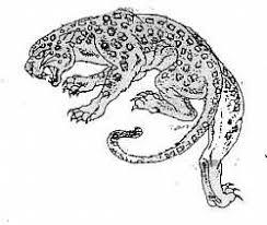 winged snow leopard tattoo design