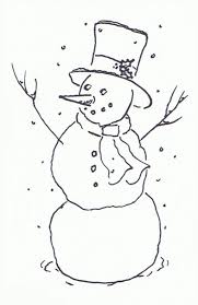 christmas snowman clipart black white clipartxtras