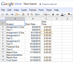 google student blog student tip use google docs and calendar to