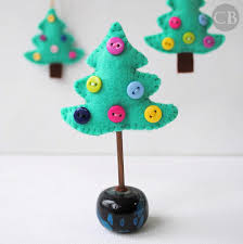 and cuddly felt trees and other ornaments