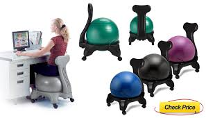 Balance Ball Chair With Arms Best Office Chair Alternative For Back Pain
