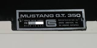 how to identify a 1965 ford mustang shelby gt 350 classicregister