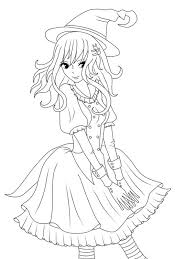 coloring pages anime kids coloring pages witch coloring pages