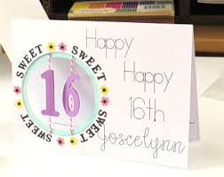 sweet 16 card etsy