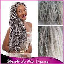 grey marley braiding hair in stock 20 fold gray kinky twists silver grey synthetic fiber