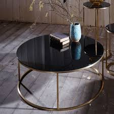 Coffee Tables Black Glass Slimline Retro Circular Coffee Tables Marble Walnut And Glass