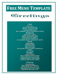free blank menu template blank menu templates free