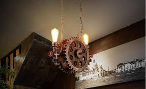 Ceiling Pendant Light Fixtures Rustic Style Loft Vintage Industrial Pendant Lights Simple Wood