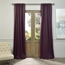 Plum Faux Silk Curtains Plum Curtains Wayfair