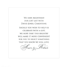 wedding gift registry list new wedding invitations registry wording for click image to