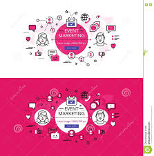 pink flat color event marketing flat color line hero images and hero banners