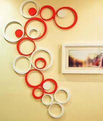 3d wall art online india home decor ideas paintings wall art price list in india 06 09 2017 buy paintings acrylic 3d red white circle wall stickers