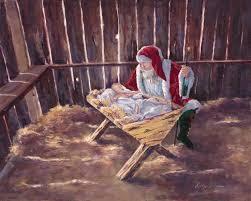 santa kneeling at the manger 61 best santa kneeling before jesus images on