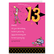 13th birthday card sayings alanarasbach