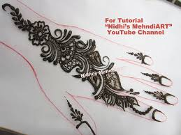 wonderful floral back hand strip henna mehndi design tutorial