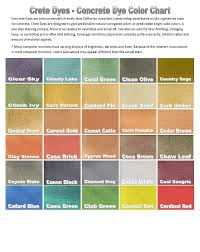 Stain Color Chart Concrete Coating Color Chart Concrete Coatings Of Springfield Dyes Color Chart