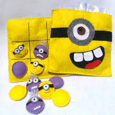 Where To Buy Minion Tic Tacs Felt Minion Tic Tac Toe Travel Play Set Pouch By Curlytailcrafts