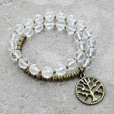 bracelet quartz images Healing genuine clear quartz crystal 27 bead wrap bracelet jpg