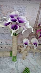 Violet Wedding Flowers - purple wedding bouquet purple calla lily bouquet by mgfloraldesign
