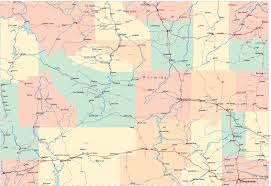 Montana On The Map by Wyoming Wy Travel Around Usa
