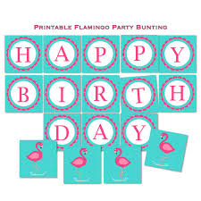 flamingo birthday happy birthday banner tracyannprintables