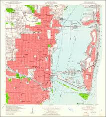 World Map 1950 Image Of The 1950 Miami Florida With Woodland 7 5 Minute Series