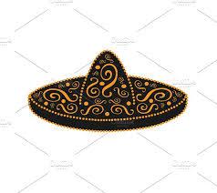 sombrero mexican ornament vector icons creative market