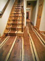 stairs and floor made from a tree downed by hurricane