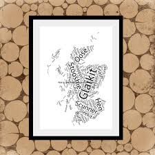 Blank Map Of Scotland Printable by Map Of Scots Words Scotland Word Art Word Collage