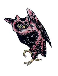 simple owl tattoo free design ideas