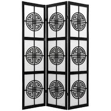 Japanese Room Dividers by Sado Black Shoji 3 Panel Room Divider Hayneedle