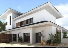 Glass Modern House Exterior With Balcony  Hedging House Facade - Home design exterior ideas