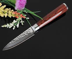 kitchen paring knives 3 5 inch professional damascus steel kitchen knives vg10