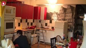 k che bekleben vorher nachher wandworte gestaltet eine küche mit fliesensticker fototapete und