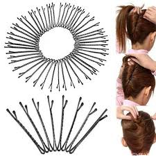 bobbie pins 60pcs hot selling invisible flat top waved bobby pins grips