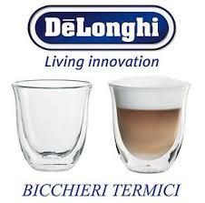 bicchieri termici de longhi set 2 bicchieri termici per cappuccino thermocup 190