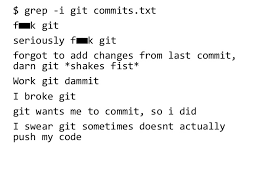 uchicago cmsc 23300 the best commit messages of 2016