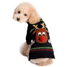 dog sweaters for national ugly christmas sweater day