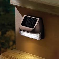 solar led deck step lights moonrays 95028 outdoor led mini deck light solar walmart com