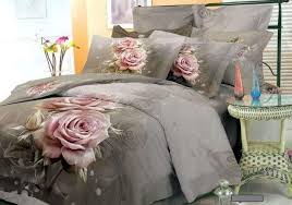 grey pink floral bedding comforter set king queen size bedspread