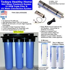 uv light for well water cost well water filters uv water treatment systems whole house well