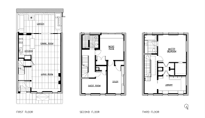 row house floor plan delson or sherman architects pcgarden becomes an outdoor room an