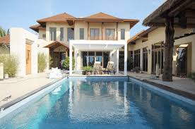 simple houses design with swimming pool shoise with photo of
