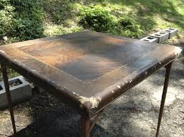 Folding Wood Card Table Folding Card Table With Wood Pattern Top Attainable Vintage