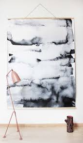 how to hang canvas art without frame diy wall hanging the fabric is prebought the tutorial is for